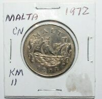 1972, 10 Cents Malta High Grade Value Coin