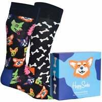 Happy Socks 2-Pack Dog Lover Socks Gift Set, Black/Navy
