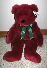 "Ty Cranberry Teddy the Beanie Baby Original Buddy Plush Bear Large 13"" 1998 RARE"