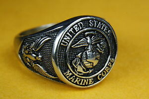 U.S.Navy United States US Marine Corps Seal Ring Military Men's Ring 137