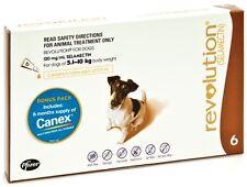 Revolution for Dogs Stop Fleas 6 pk - All Sizes + All Wormer + 2 BONUS SINGLES