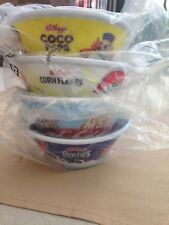 Kelloggs Cereal Bowls Rare 2012 Plastic Straw Coco Pops  Frosties Cornflakes