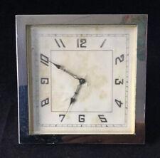 Mesita De Noche De Escritorio cuadrado de estilo Art Deco-manto británicos hicieron Reloj
