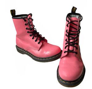 Dr. Martens Original 1460 Pink 8-Eye Combat Womens Boots Size 8