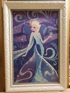 "Disney's Fine Art Elsa Frozen ""Magical Maiden"" Signed Jeff Granito Giclee Canvas"