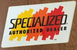 SPECIALIZED AUTHORIZED DEALER- sticker decal NEW & RARE Vintage bicycle MTB