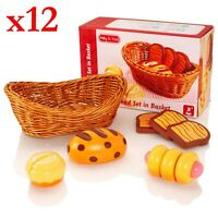 Job Lot of 12 x Milly and Ted Wooden Bread Basket Sets - Brand New - SAWT860-6