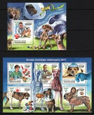 TOGO 2011 ANNEE MOND VETERINAIRE DOG CAES HUNDE DOMESTIC ANIMALS PETS STAMPS MNH