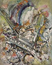 Roger LERSY (1920-2004) HsT 1994 Nle Ecole de Paris Jeune Peinture Abstraction