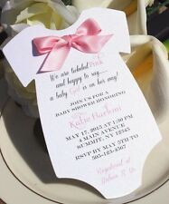 Baby Shower Invitation for Girl with Pink Satin Bow!