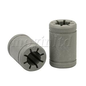 Engineering Plastic Shaft Solid Polymer Replacement for LM8UU Bearing Set of 2