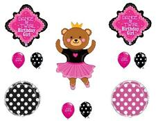 DANCING BALLERINA BEAR Birthday Party Balloons Decoration Supplies Ballet Twirl