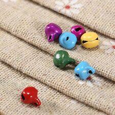 100pcs Jingle Bells Charms Random Color Iron Beads Christmas Pendants Decoration