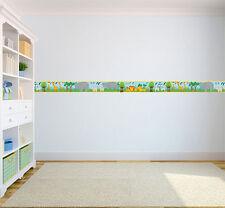 Savannah Animals Children's Bedroom Self Adhesive Wallpaper Border Baby Nursery
