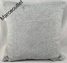 "Hotel Collection Dimensional 18"" x 18"" TWO Embellished Decorative Pillows Silver"