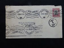 South Africa 1939 Cape Town to Grimsby Cover - Multi language Franking - Taxed 1