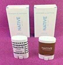 2 Native Bar Soap Powder & Cotton 2 Native Travel Deodorant Charcoal & Coconut