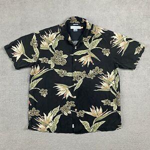 Quicksilver Edition Men's Short Sleeve Button Up Shirt Medium Hawaiian Comfort