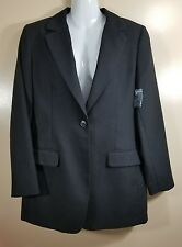 Orvis Petite With Tags Womens 1 Button Blazer Sports Coat Black Size 8P