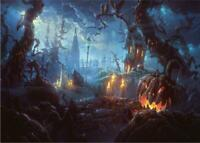300 Pcs Puzzle Ghost Forest Halloween Adults Kids Toys Learning Education jigsaw
