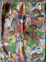 VINTAGE Y BERK LAUNDRY BAG NOWL DESIGNS SF Rare 22x30 Cotton Colorful WORLD