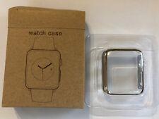 Panzerglas Display Schutz Apple Watch Series 3 Cover für 38 mm silber