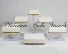 6 TIER SQUARE CASCADE WEDDING CAKE STAND (STYLE SQ630)