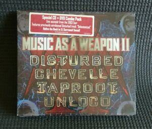 MUSIC AS A WEAPON 2 [CD + DVD] Disturbed, Chevelle, Taproot, Unloco NEW&SEALED