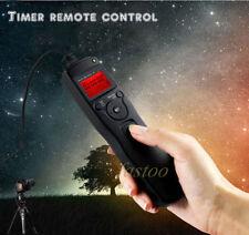 Timer Remote Shutter Cord + 2.5mm Adapter for Nikon D3100 D5000 D7100 D7000 D600