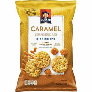 Quaker Rice Crisps Caramel Corn Popped Snack Gluten Free 6 (3.53 oz) OR 3 (7 oz)