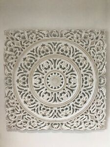 LARGE MOROCCAN STYLE CARVED PANEL WALL ART PICTURE HOME DECOR RUSTIC