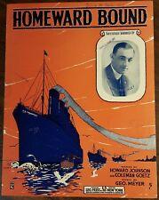 1917 Wwi Song Johnson Goetz Meyer Homeward Bound Neil McKinley Transport Ship