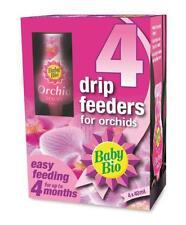 4 x 40 ML Bébé Bio Orchid Plant Food Drip Feeder engrais House Garden Healthy