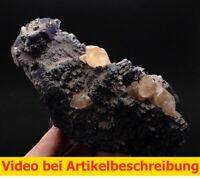 7379 Fluorit Calcite 10*20*7 cm Denton Mine USA Illinois Cave in Rock MOVIE