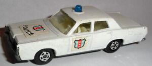 Matchbox Lesney #55 Mercury Police Car 1968 blue bubble VG