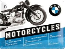 BMW Motorcycles Timeline large embossed metal wall sign.  400mm x 300mm (na)