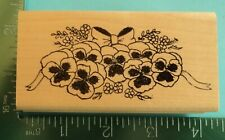 Pansy Flowers with Bow Rubber Stamp by Embossing Arts