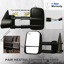 Power Rearview Towing Heated Mirror Fit 1999-2002 Chevy Silverado/GMC Sierra