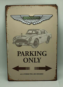 Garage Sign with Aston Martin Parking Only