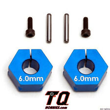 Team Associated 71034 Clamping Wheels Hexes 6.0mm RC10SC5M Fast Shipping wTrack#