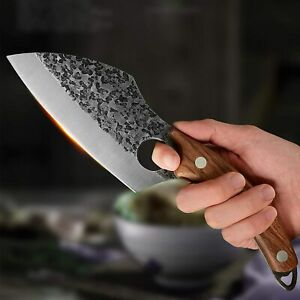"Kitchen Boning Butcher Knife Stainless-Steel 5.7"" Blade Japanese Forged Handmade"