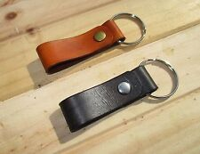 Personalized Leather Belt Loop  Key Ring fob