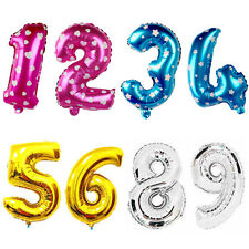 """Happy Birthday Party Banner Balloon Bunting Gold 16"""" Letter Foil 0 1 2 3 4 5 6-9"""