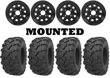 Kit 4 Kenda Bearclaw EVO K592 25x8-12/25x10-12 on ITP Delta Steel Black IRS