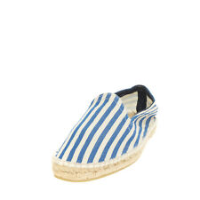 Rrp €130 Manebi Canvas Espadrille Flat Shoes Size 44 Uk 10 Us 11 Striped Patter