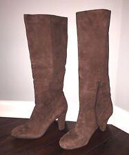 NWOB ANNE KLEIN Gorgeous Women's Brown Suede Knee High Boots Size 9.5 M