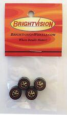 4 Brightvision Redline Wheels – 4 Large Gold Chrome Bearing Style Wheels