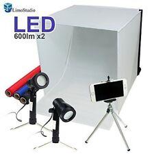 "Photo Booth Studio 16""X16"" Tabletop Photography Tent Box Lighting Kit Backdrops"