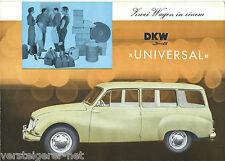 Prospekt DKW 3=6 >> UNIVERSAL<<, Autohaus EMIL SPAHR STUTTGART