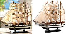 "AUTHENTIC PASSAT SHIP MODEL SAILING SCHOONER SCULPTURE *13""X12""* NIB"